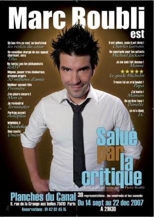Marc Boubli – Salué par la critique