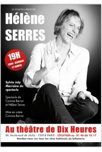 Hélène Serres au théâtre de Dix Heures