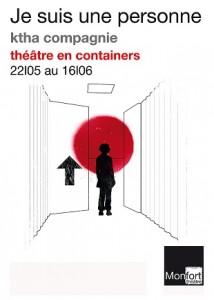 Je suis une personne, théâtre en containers