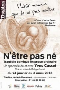 Yves Cusset – N'être pas né