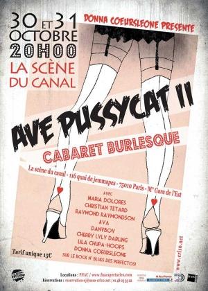 Ave Pussycat II – cabaret burlesque animé par Maria Dolores