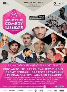 26e édition du Montreux Comedy Festival, 2 au 7 décembre 2015