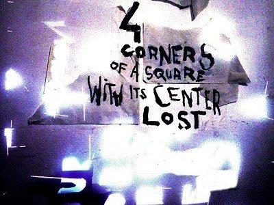Four corners of a square with its center lost au Cirque électrique