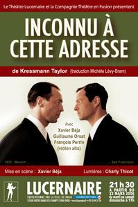 Inconnu à cette adresse de Kressmann Taylor, par Xavier Béja