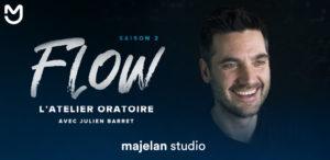 Visuel horizontal pour la saison 2 de FLOW sur majelan