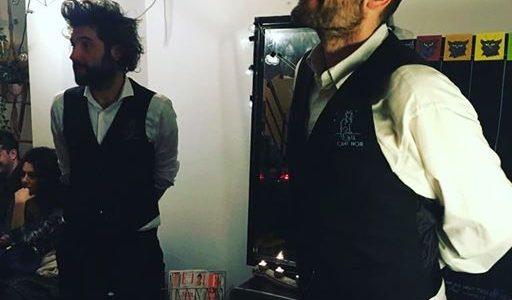 Romain Nouat et Julien Barret lors de la 1ere scène du Chat Noir à la Cantine du 18 le 12 février 2020