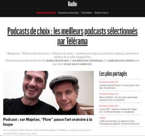 FLOW parmi la sélection des podcasts par Télérama en avril 2020