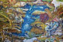 Oeuvre sur toile de Stéphane Fall, la revanche des animaux, 160x114, 2010, Clichy la Garenne, coll. part.