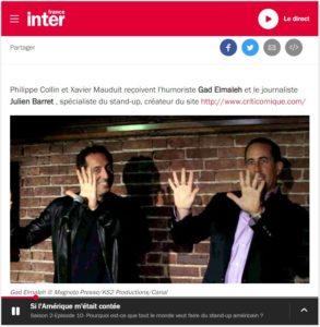 Emission Si l'Amérique m'était contée sur France Inter du 1er novembre 2014